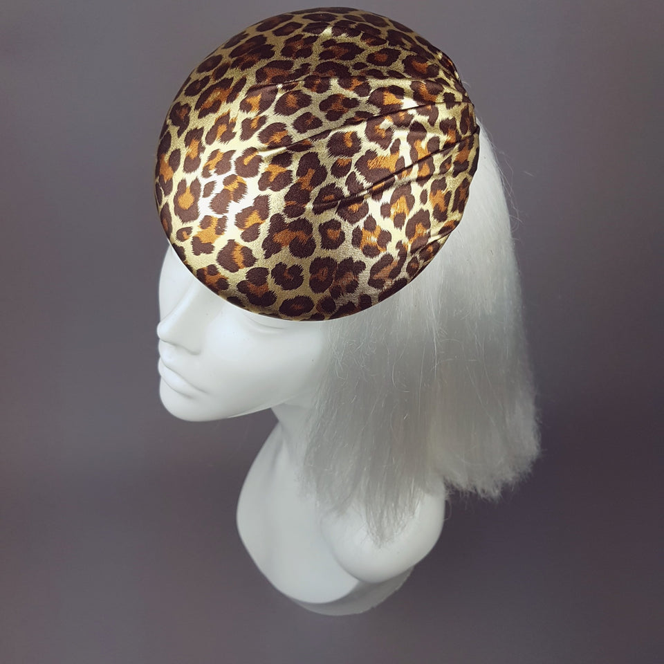 """Rockabilly"" Leopard Print Hat"