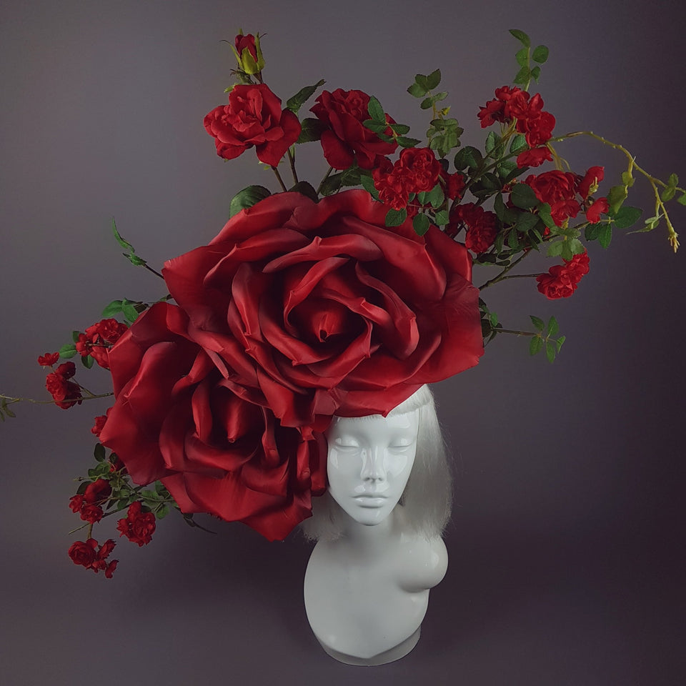 """Wild Roses"" Giant Red Rose Hat"