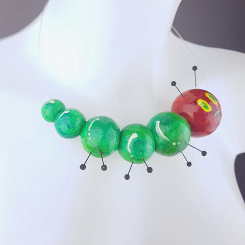 """The Hungry Caterpillar"" Quirky Art Necklace"