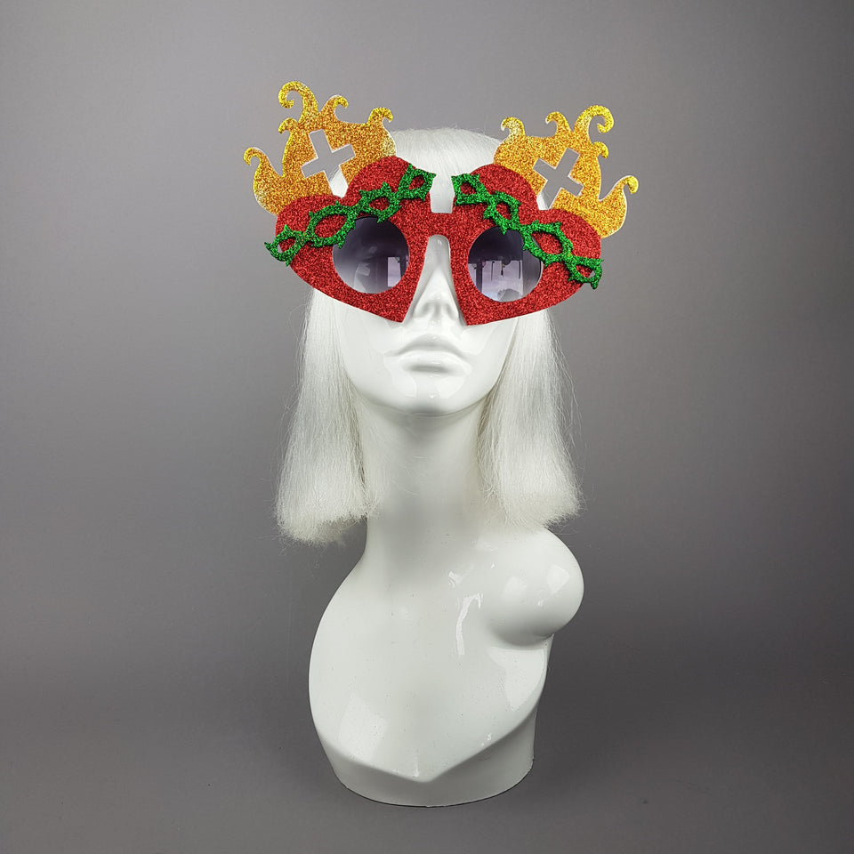 """Holier Than Thou"" Sacred Heart Virgin Mary Sunglasses"