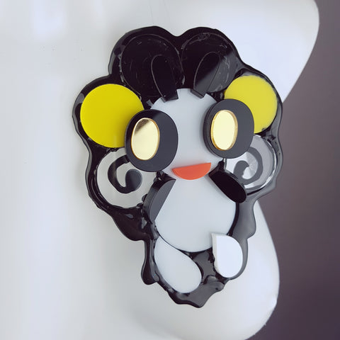 """Loopy Loo"" Large Acrylic Sweet Creature Brooch"