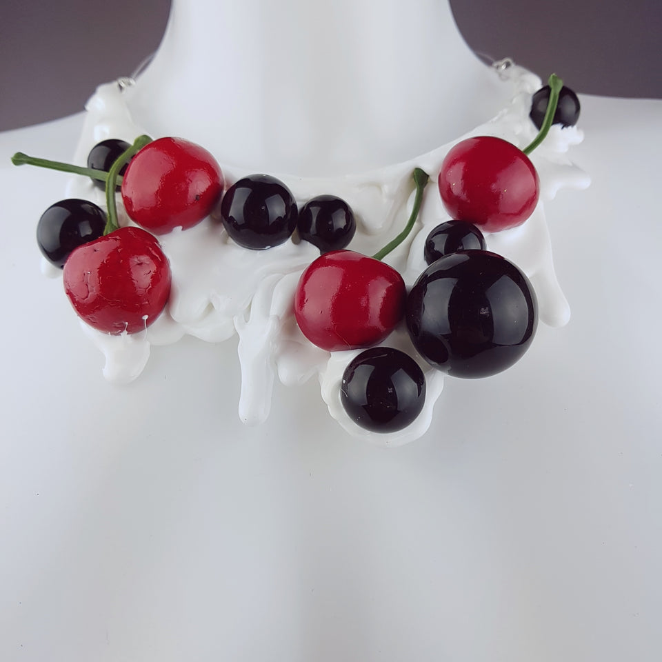 """Cherry Delight"" Neckpiece (Similar can be made!)"