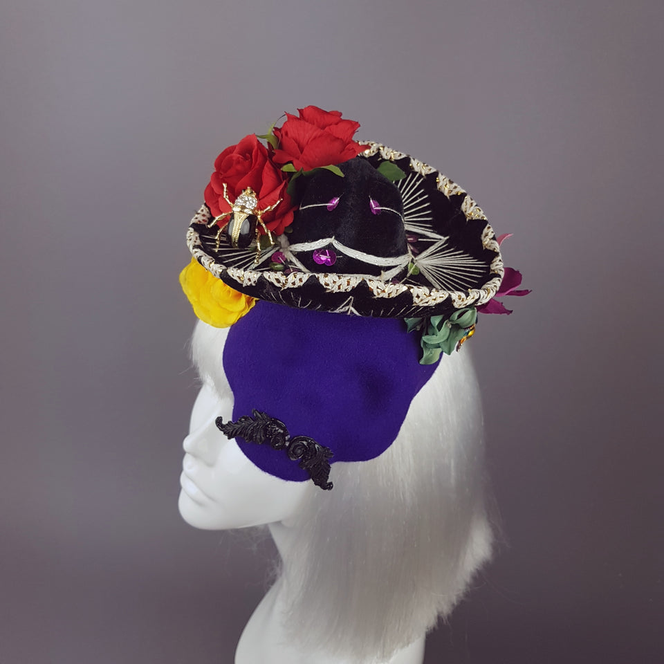 """Mi Amado"" Purple Mexican Skull Hat"