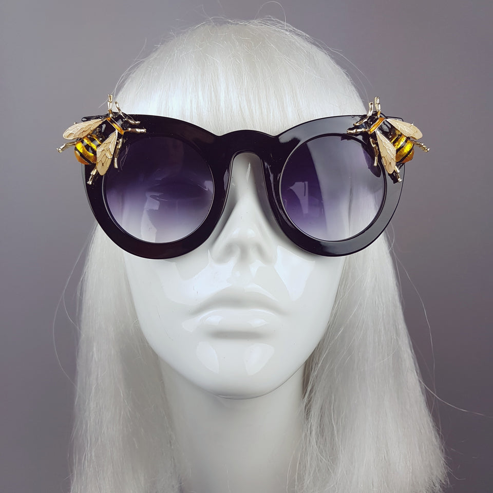 """Buzz"" Black Yellow Bee Sunglasses"