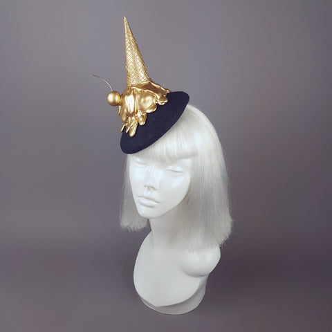 """Gelato"" Surreal Gold Dropped Ice Cream Hat"