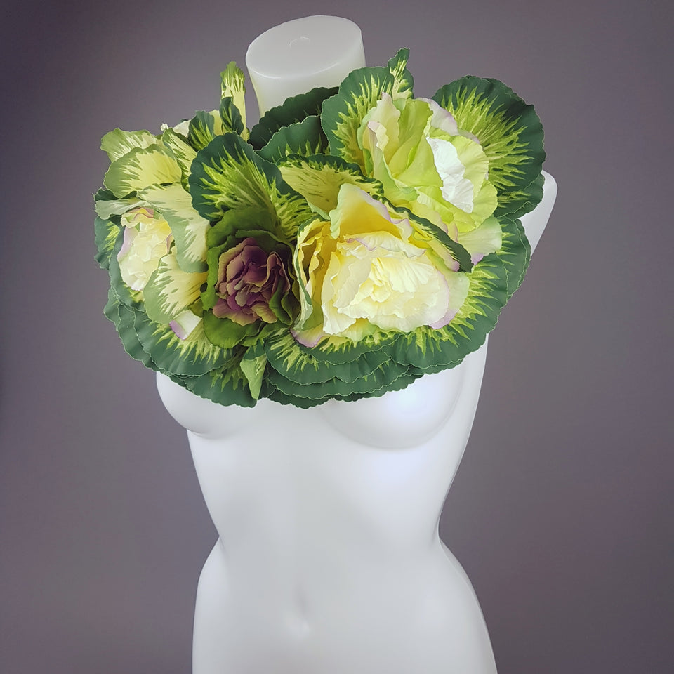 """Chou"" Wearable Art Cabbage Neckpiece"