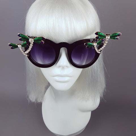 """Libellula"" Jewelled Dragonfly Sunglasses"