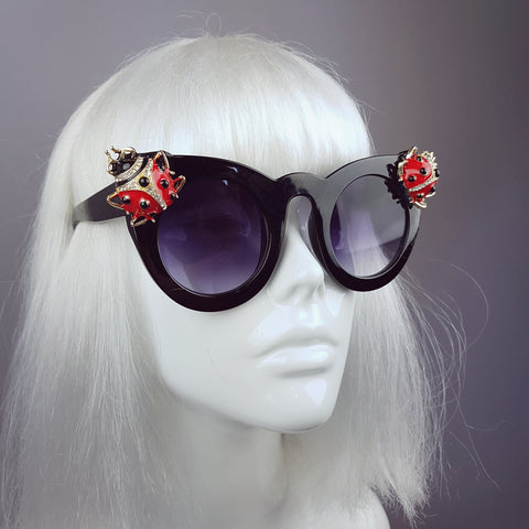 """Coccinella"" Jewelled Ladybird Sunglasses"