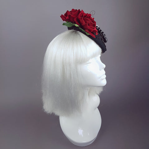 """Doombug"" Red Rose Bug Dollface Hat"