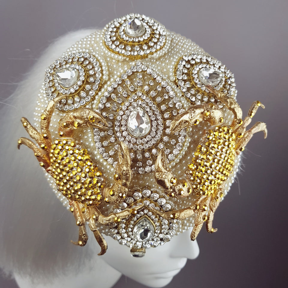 Gold & Pearl Crab Hat 'Crabe D'or'