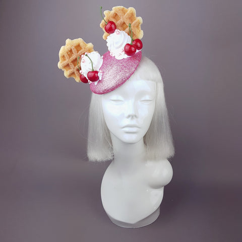 """Délectable"" Waffle & Cream Ear Ice Cream Hat"