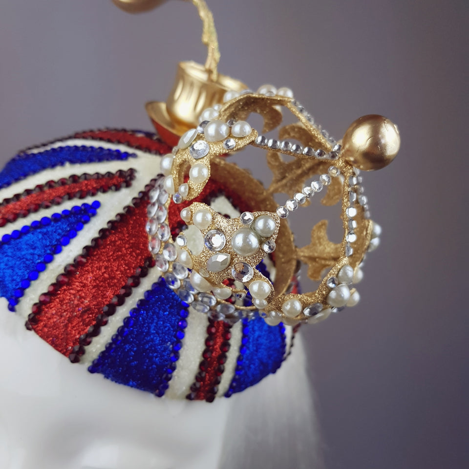 """British-ness"" Union Jack Tea Party Crown Hat"
