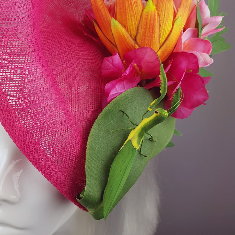 """Strelitzia"" Colourful Tropical Flowers Fascinator Hat"