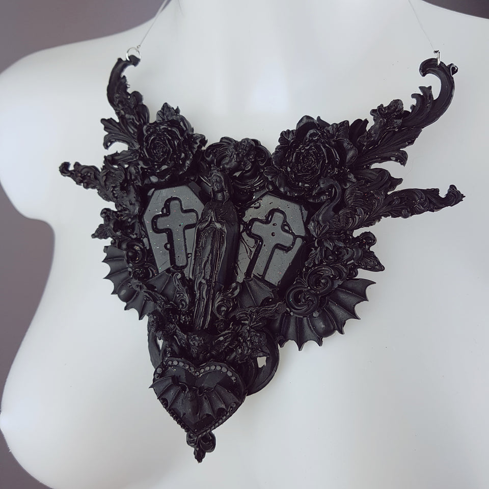 """Beleth"" Ornate Black Filigree Neckpiece"