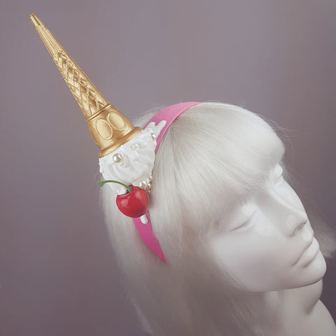 """Calamità"" Quriky Dropped Ice Cream Headband"