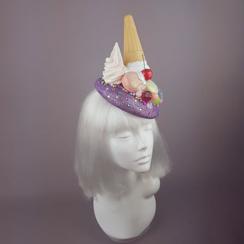 """Temptation"" Dropped Ice Cream & Candy Glitter Hat"