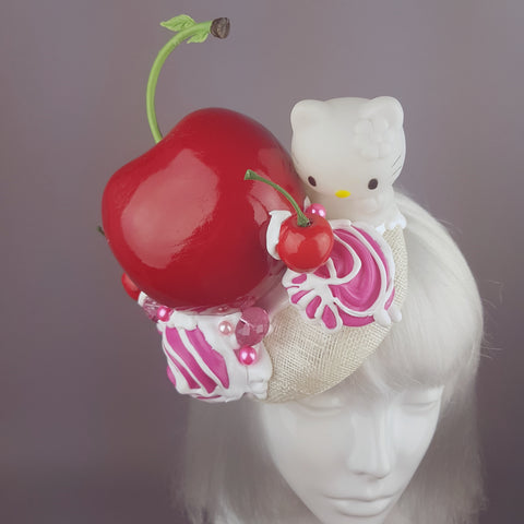 """Naughty Kitty"" Giant Cherry and  Ice Cream Hat"