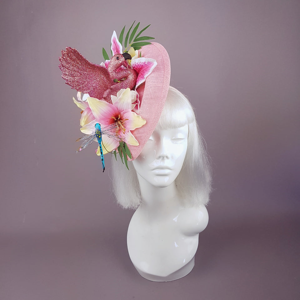 """In The Pink"" Flamingo Tropical Flower Hat"