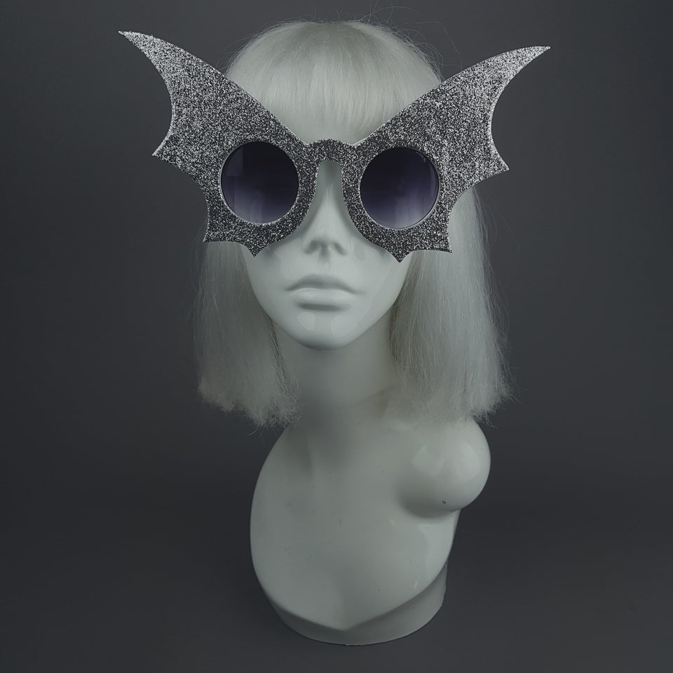 """Nocturne"" Silver Bat Wing Sunglasses"
