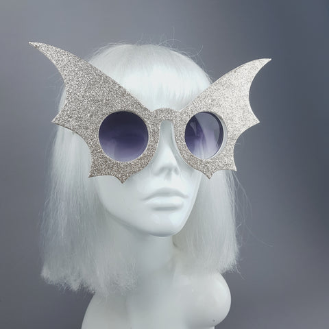 """Flutter"" Gold Bat Wing Sunglasses"