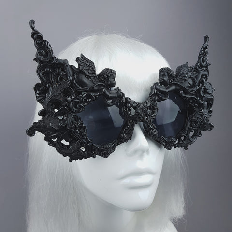 """Gothica"" Black Filigree Ornate Sunglasses"
