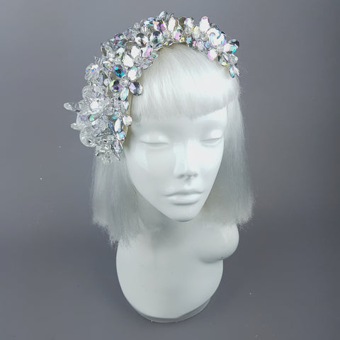 """Miroir"" Vintage Inspired Bejewelled Fascinator Hat"