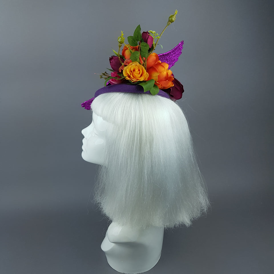 """Fantabulous"" Colourful Flamingo & Flower Fascinator Hat"