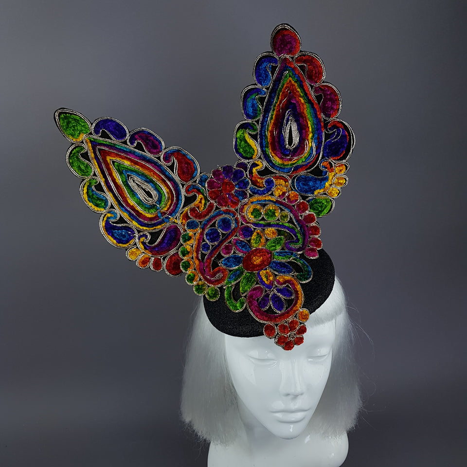 """Eirisse"" Colourful Bunny Rabbit Ear Fascinator Hat"