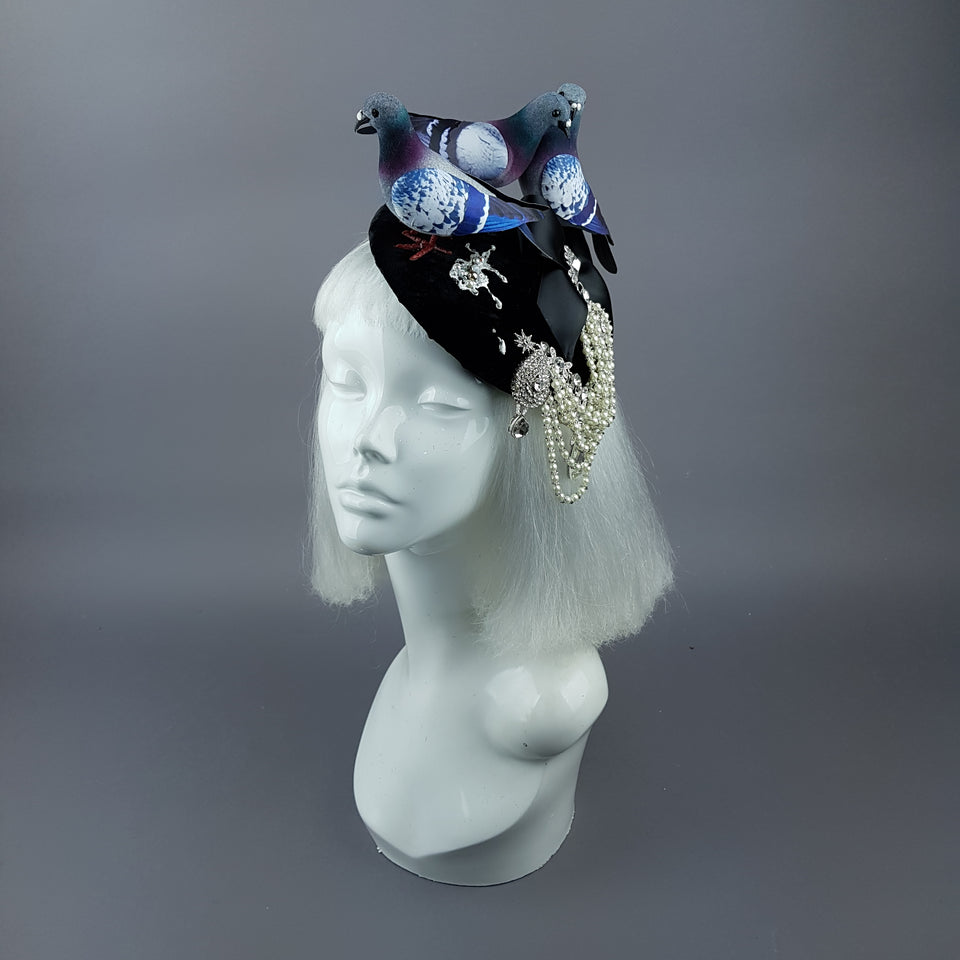 """Merde"" Quirky Chic Pigeon Poop Fascinator Hat"
