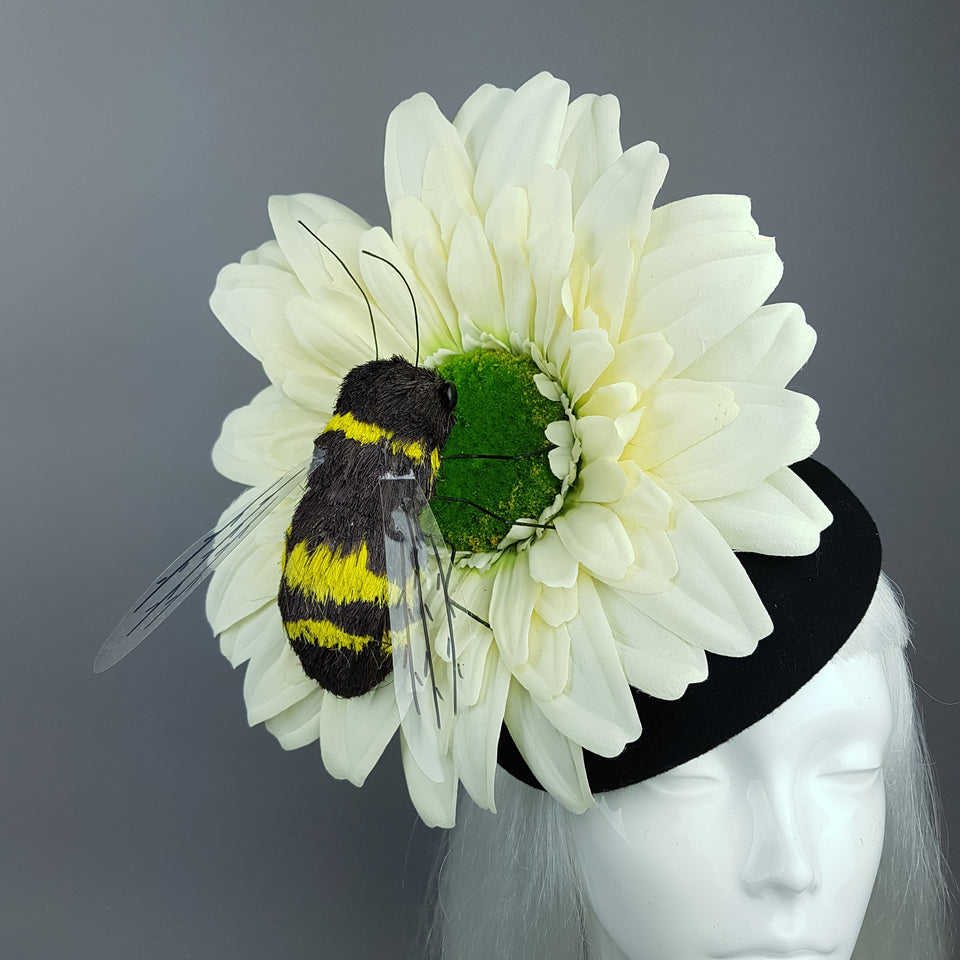 """Pipi"" Bee & Ivory Flower Fascinator Hat"