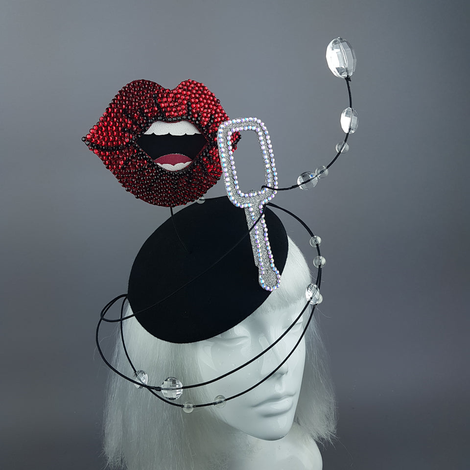 """Float"" Surreal Bubble Blowing Fascinator Hat"