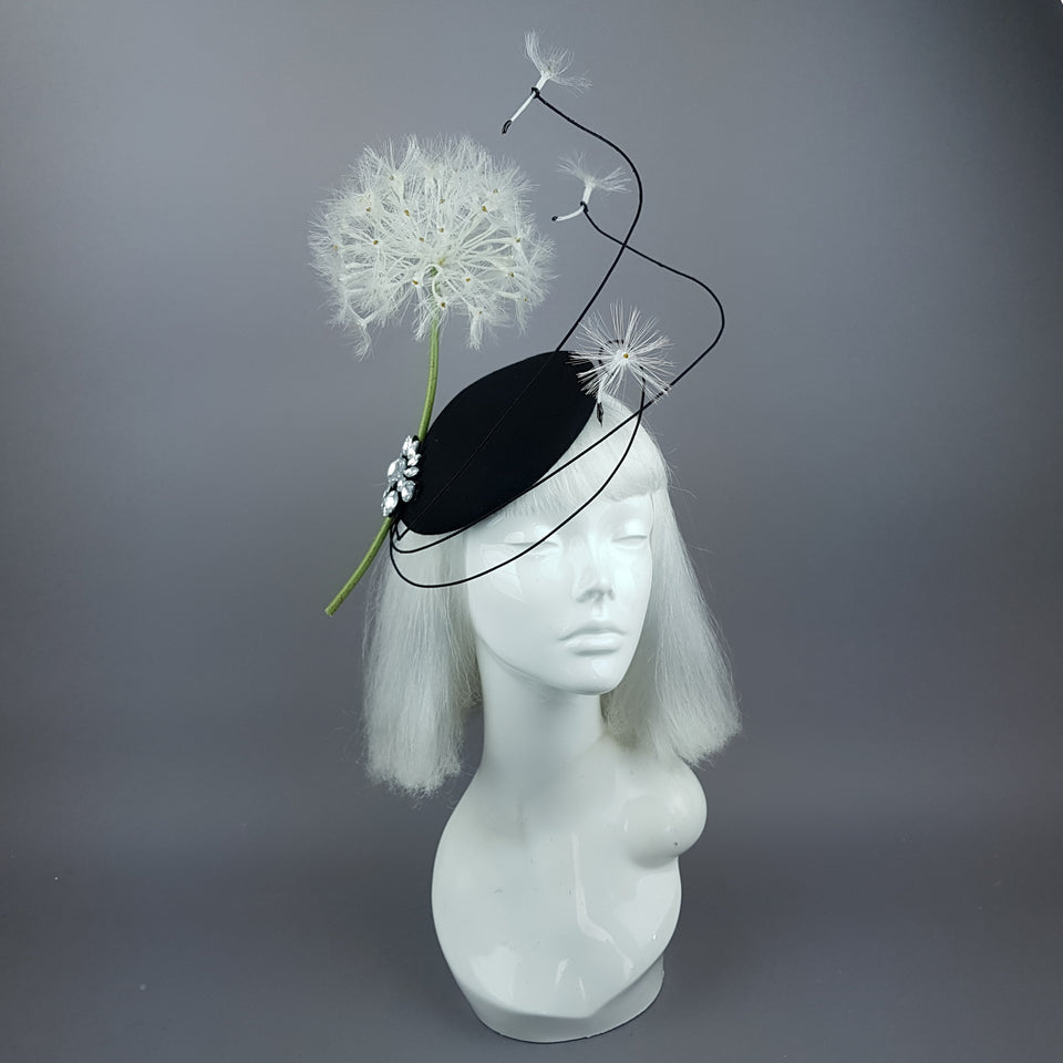 """Dandy"" Dandelion & Jewel Fascinator Hat"