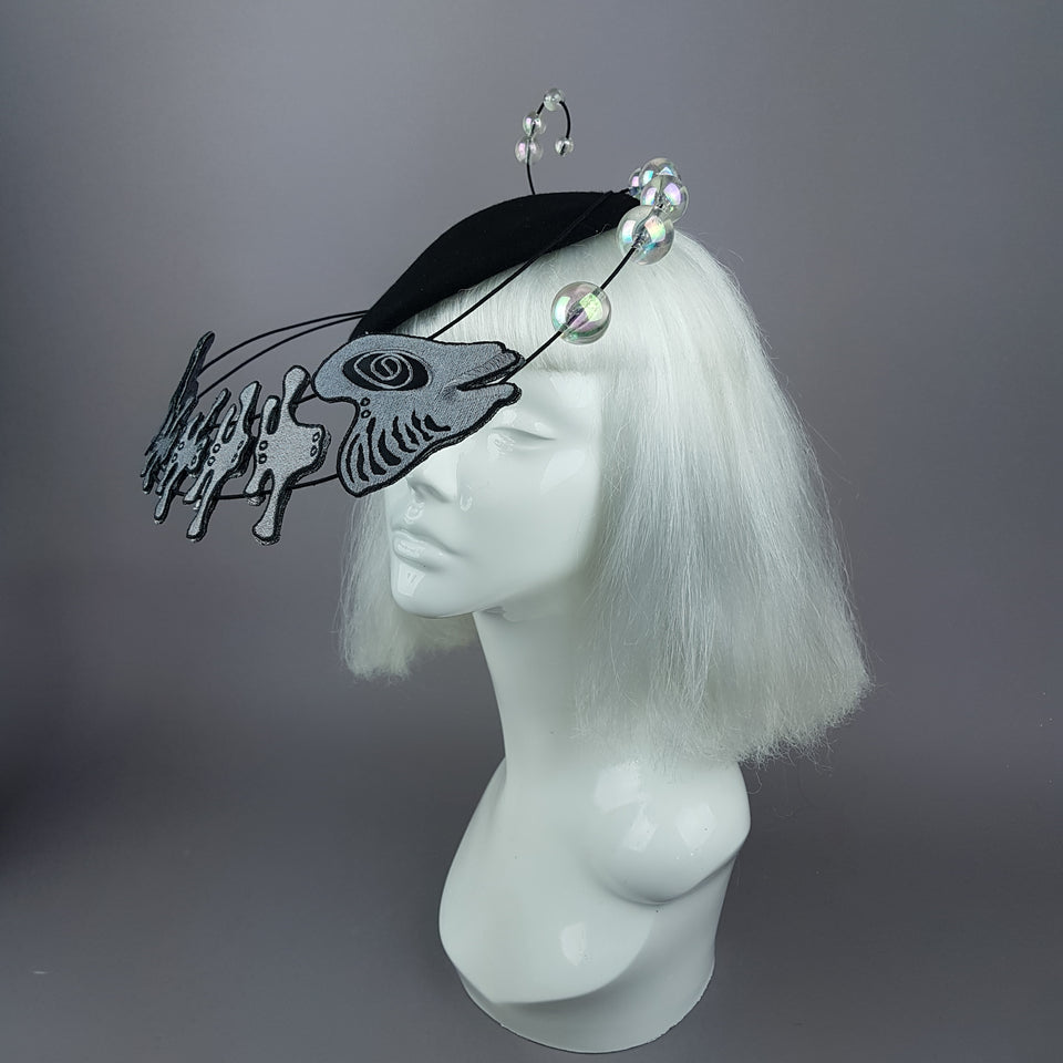 """Mira"" Fish & Bubbles Fascinator Hat"