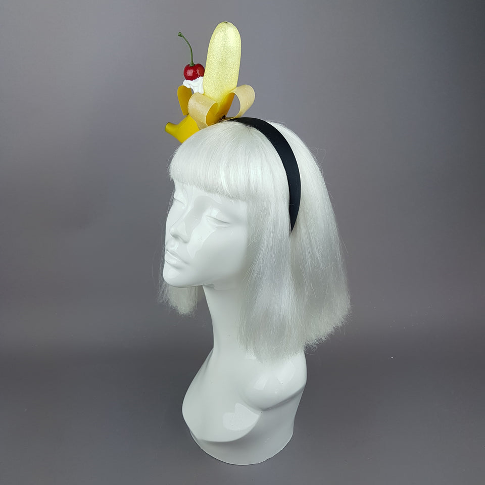 """Kiri"" Banana, Cherry & Cream Headband"
