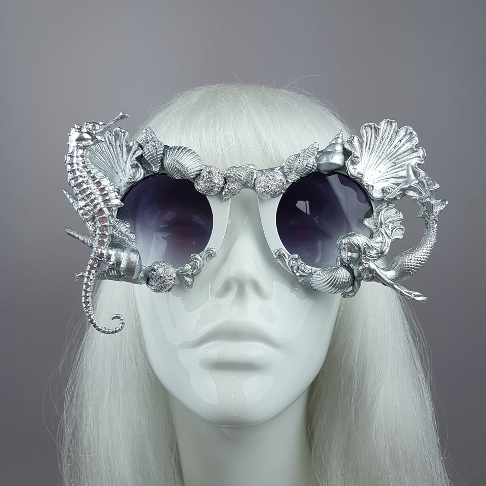 """Ariel"" Silver Shell Mermaid Sunglasses"