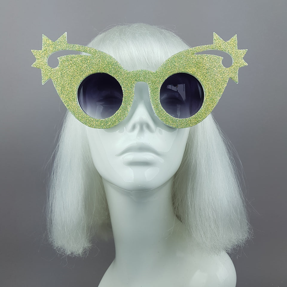 """Mirumiru"" Mermaid Glitter Stars Sunglasses"