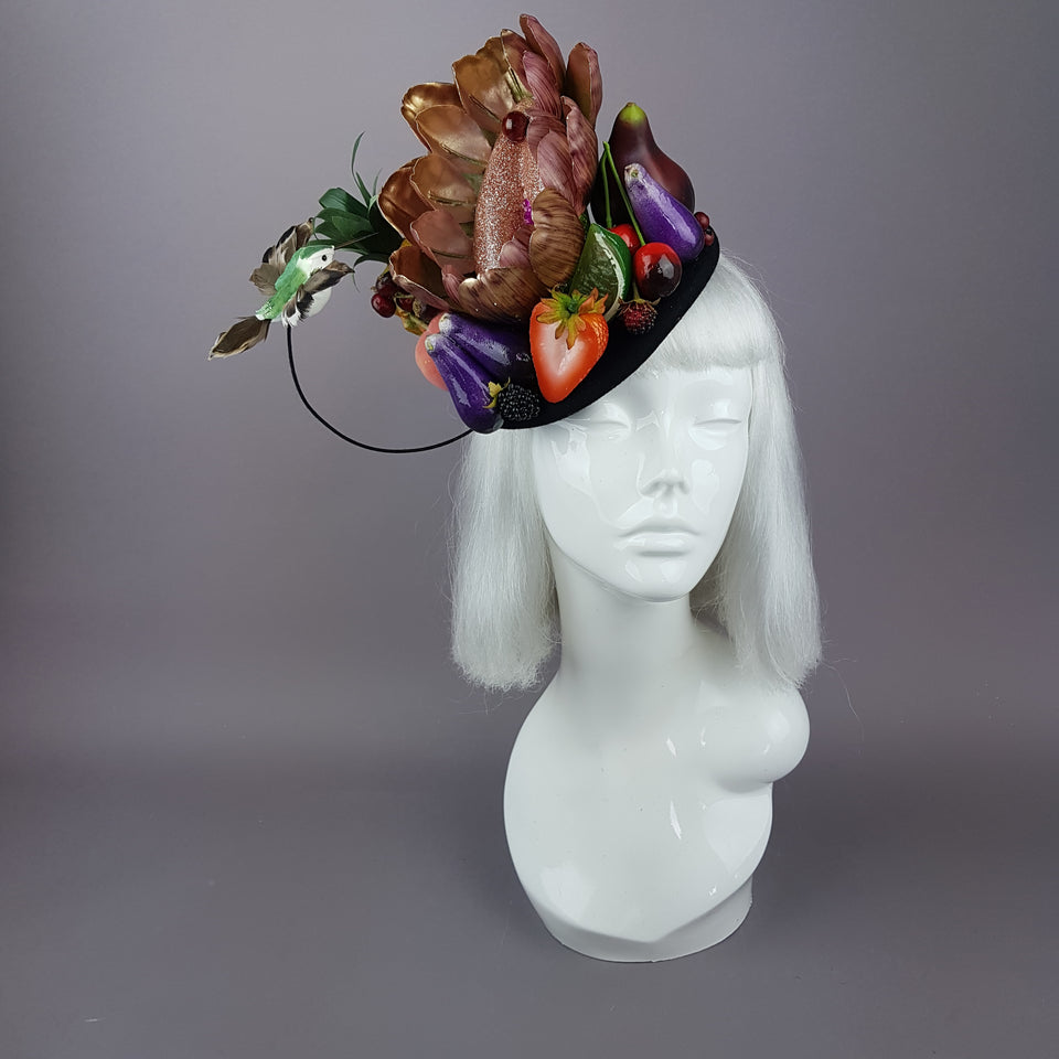 """Foof"" Vagina Vulva Fruit & Bird Fascinator"