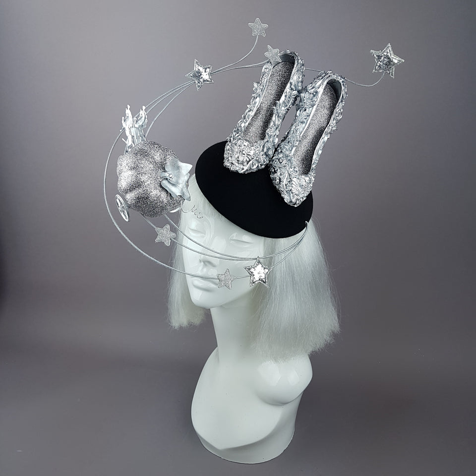 """Ever After"" Cinderella Inspired High Heel Shoe Fascinator Hat"