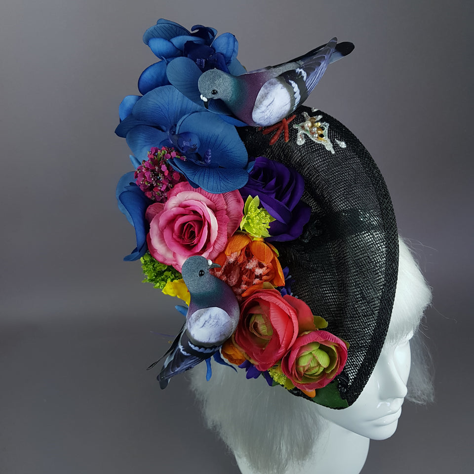 """Cocô"" Flower Pigeon Poop Fascinator Hat"