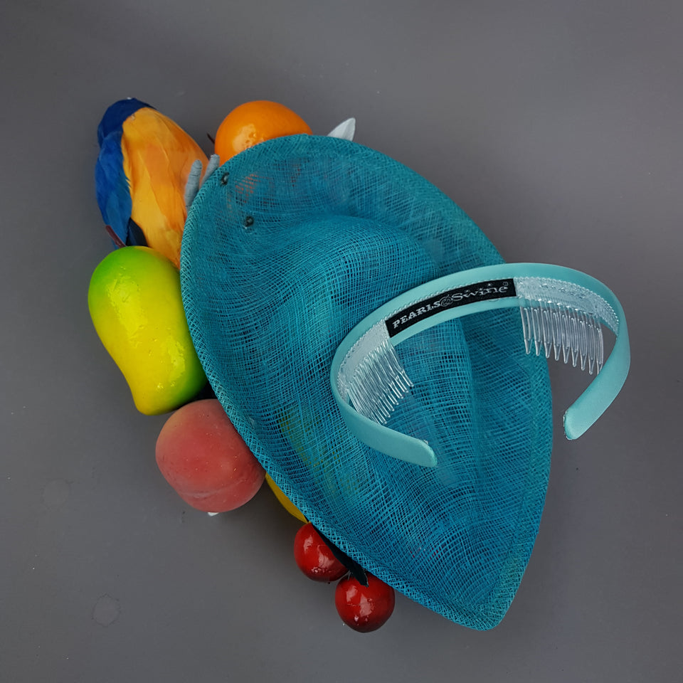 """Leilani"" Colourful Parrot & Fruit Tropical Fascinator Hat"