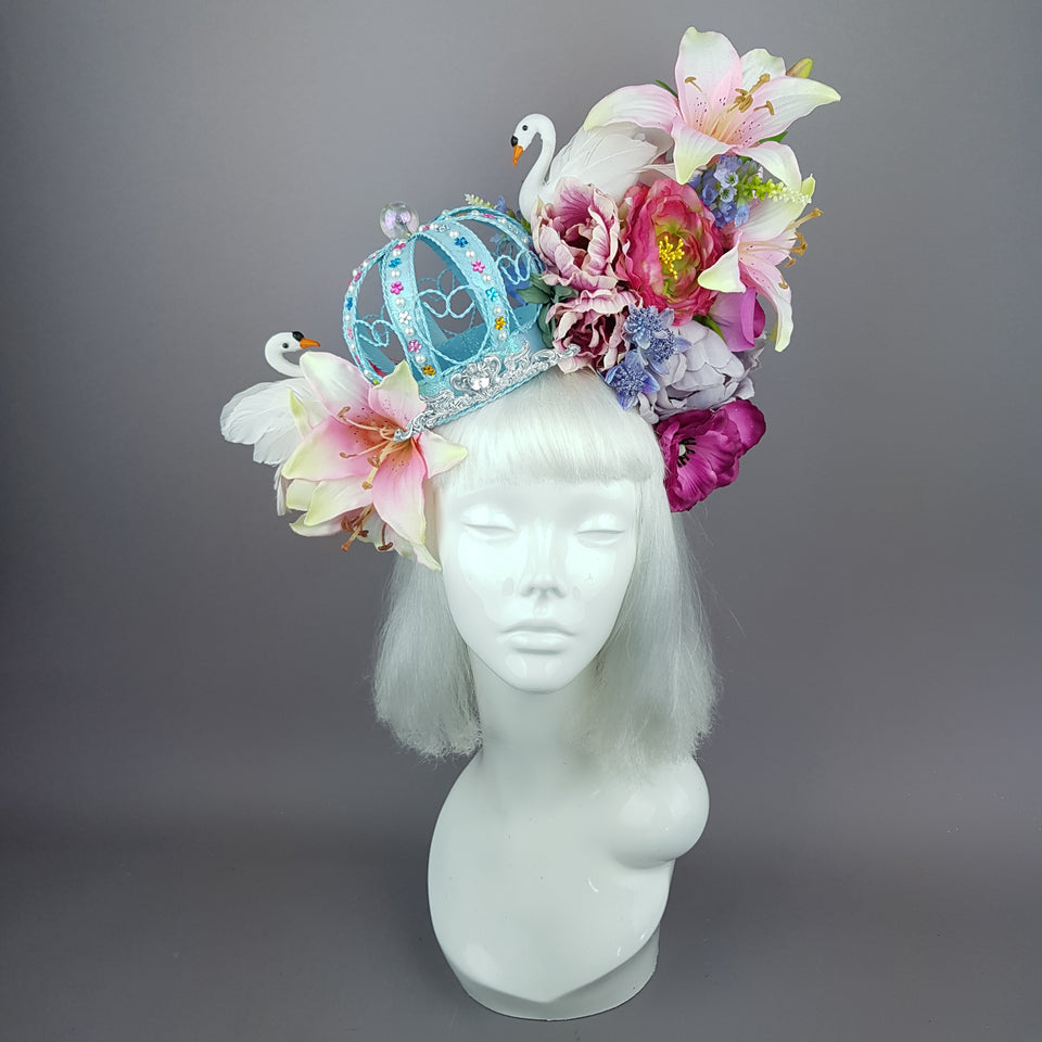 """All The Glitters"" Marie Antoinette Inspired Pastel Crown & Flower Headdress"