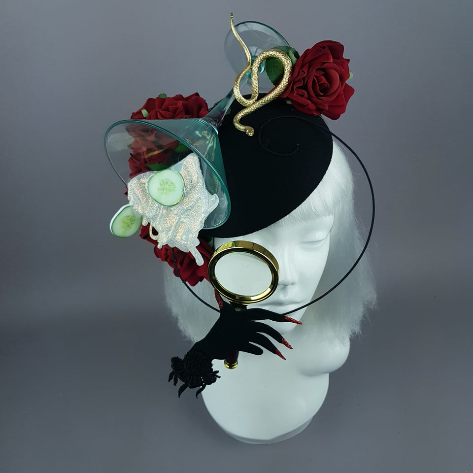 """Curiosity"" Gin Martini Cocktail Fascinator Hat"