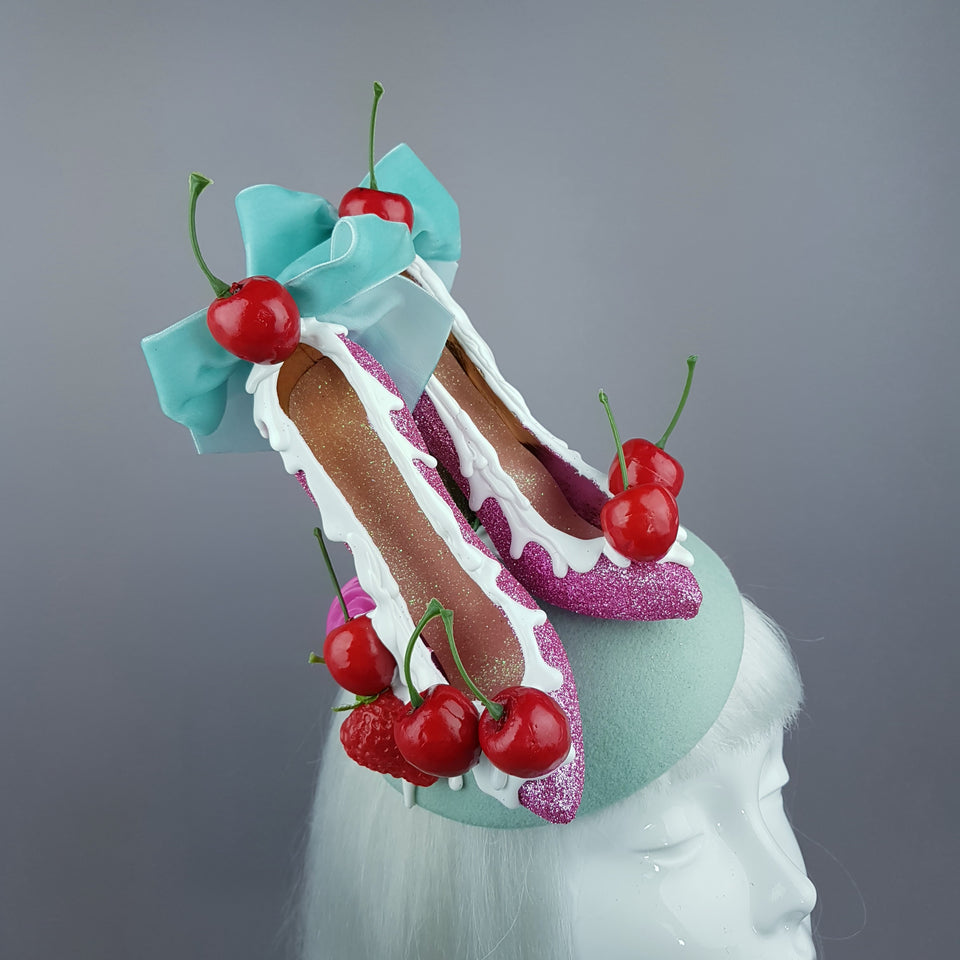 """Dela Crème"" Ice Cream High Heel Shoe Fascinator Hat"