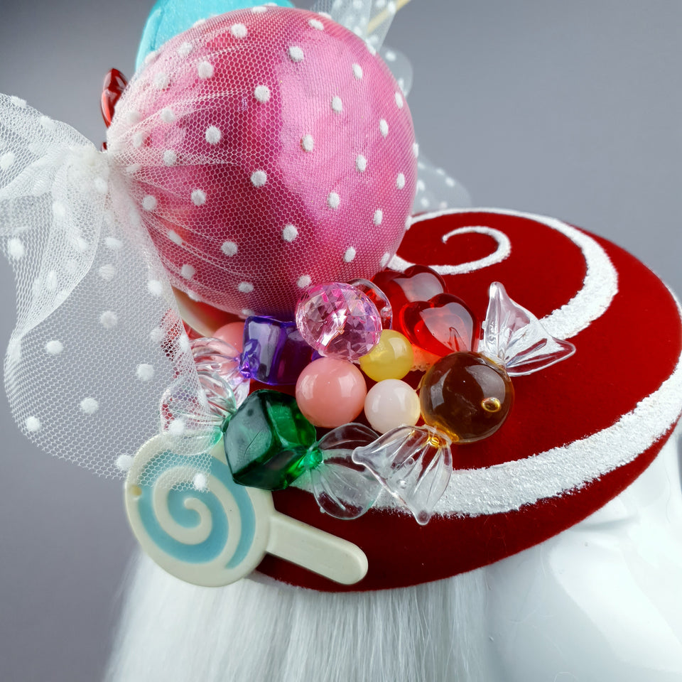 """Caramelo"" Candy Sweets Glitter Fascinator Hat"