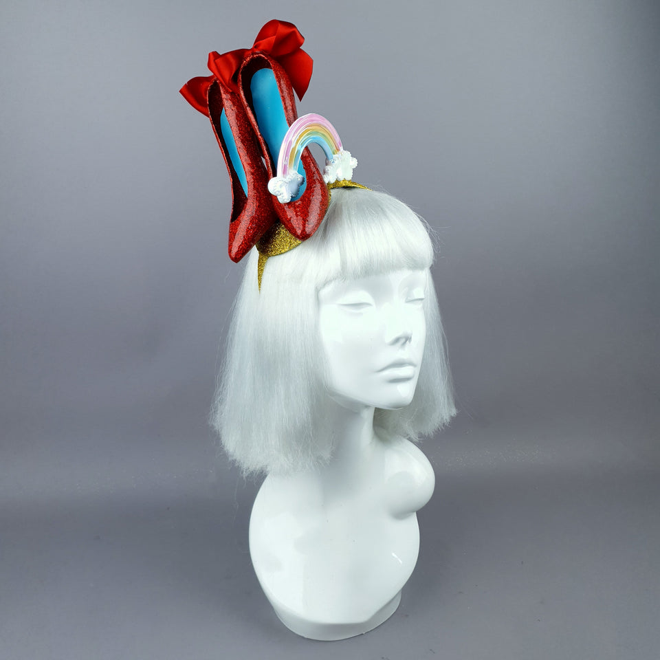 """Over the Rainbow"" Wizard of Oz, Ruby Slippers Headpiece"