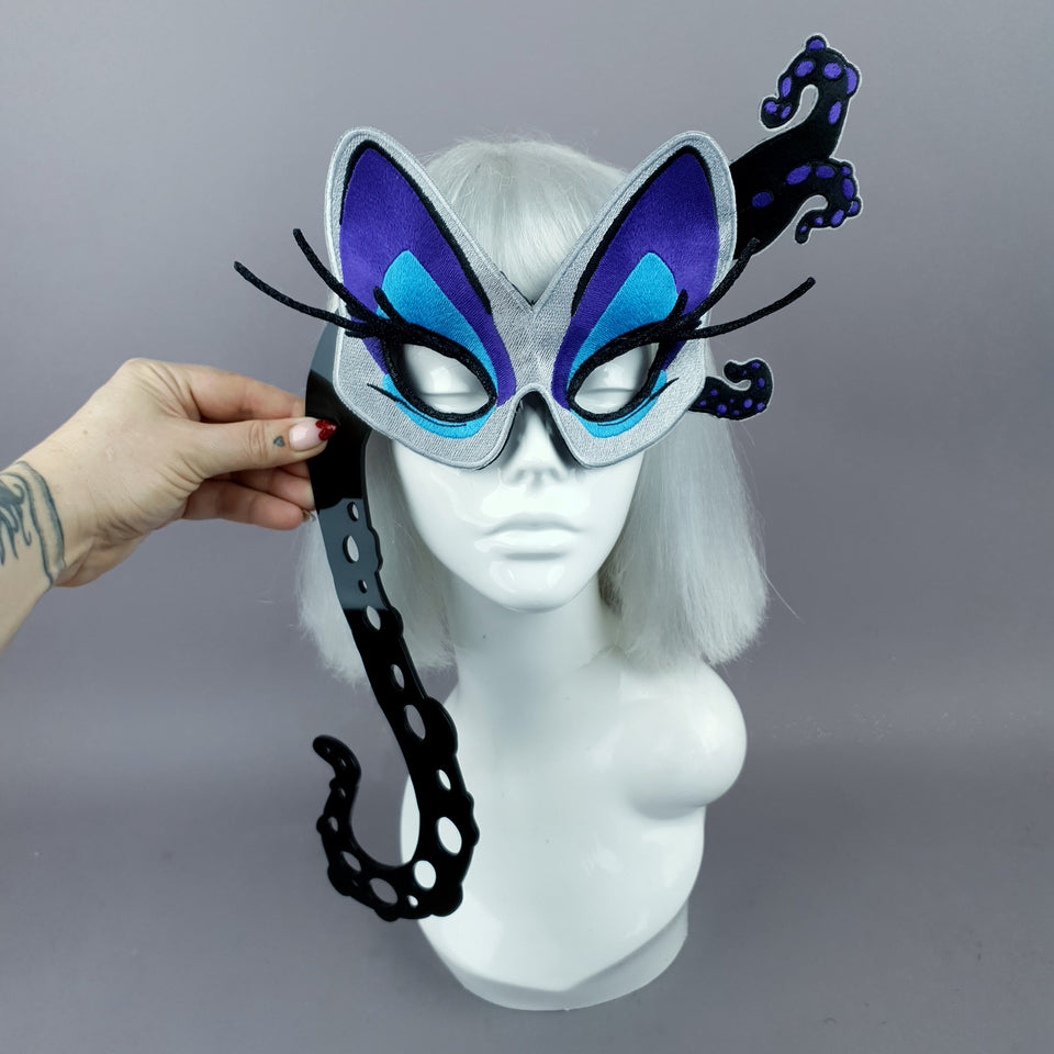 """Sea Witch"" Embroidered Hand Held Mask"