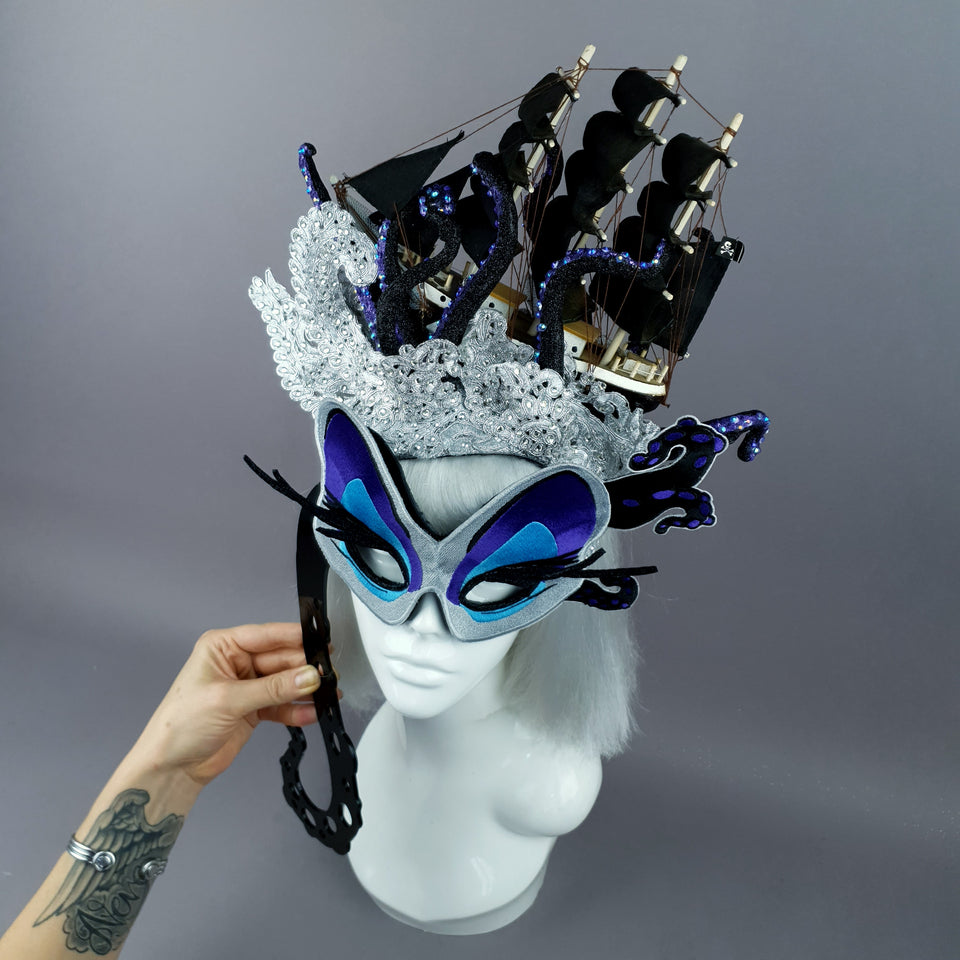 """Unfortunate Souls"" Ship, Lace & Tentacle Headdress"