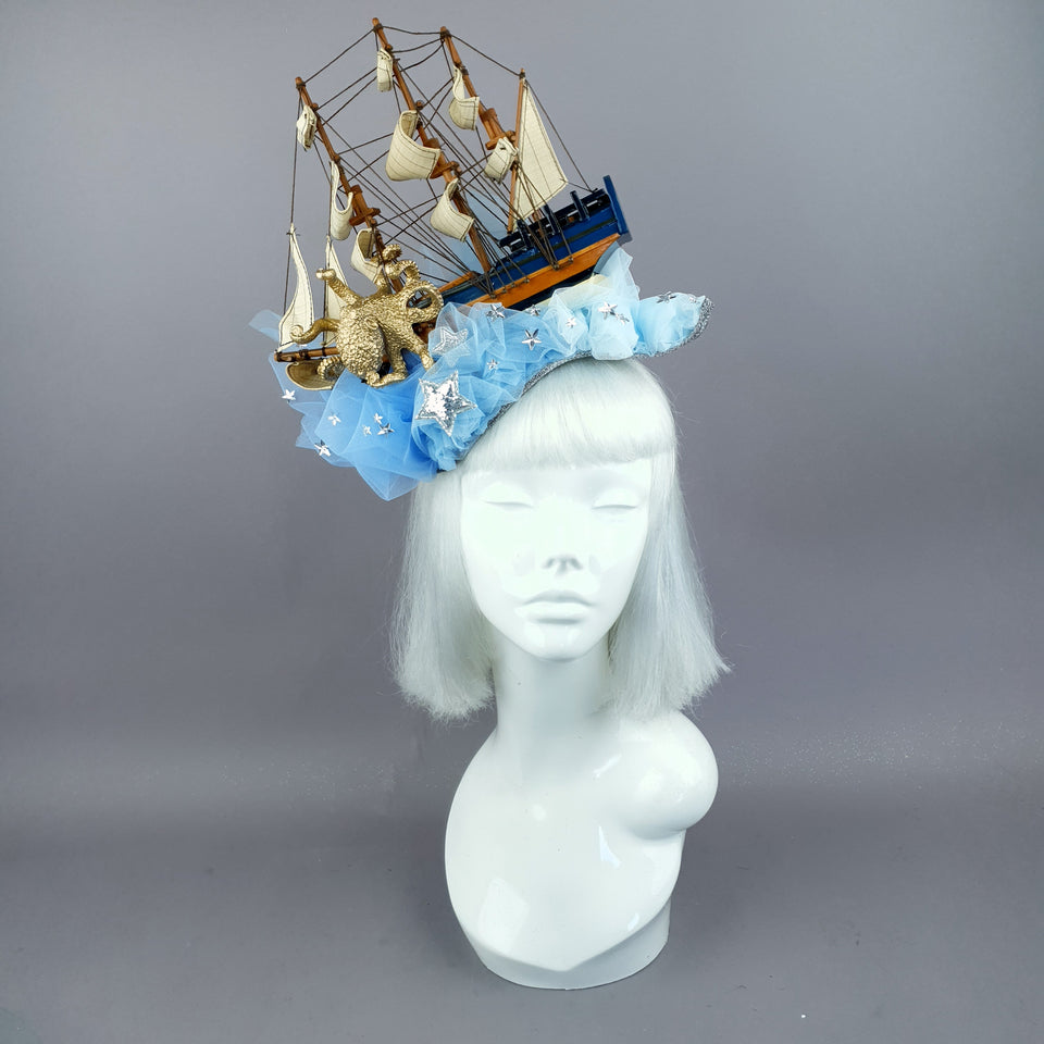 """Marine"" Ship, Tulle & Octopus Headdress"
