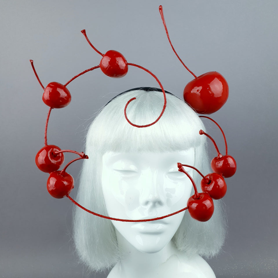 """Kirsche"" Giant Red Cherry Headpiece"
