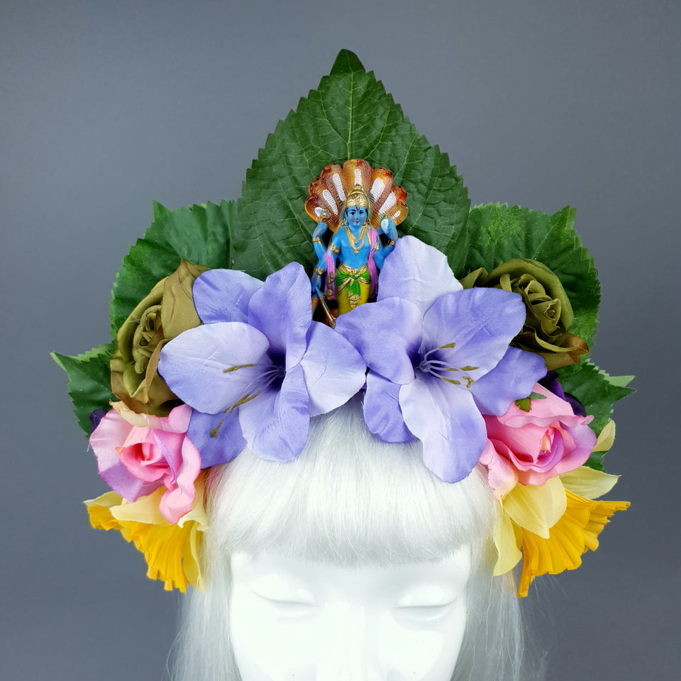 Colourful Flower Headdress with Manasa